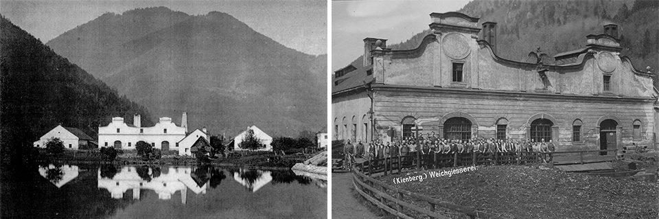 Weichgießerei Marktgemeinde Gaming, um 1935 & 1910