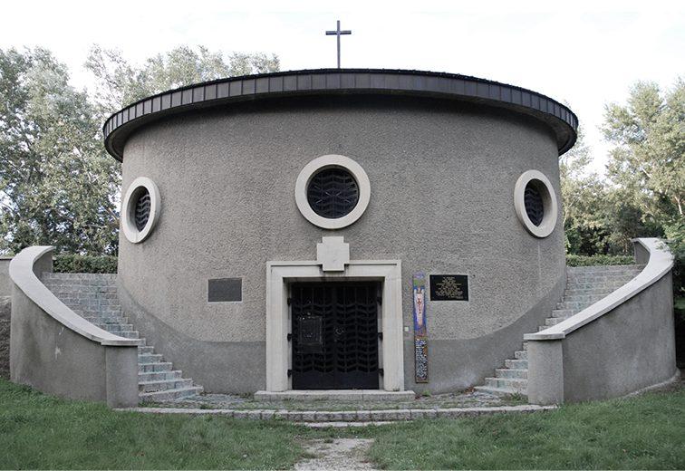 Auferstehungskapelle, Karl Franz Eder 1933, Friedhof der Namenlosen, 1110 Wien.  (Bild: stadtbekannt.at)