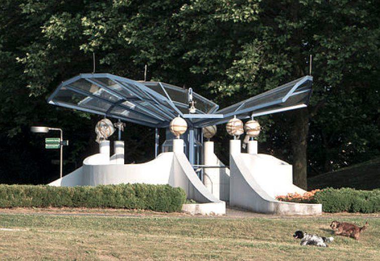 Wetterstation im Kurpark Oberlaa, Wiener Internationalen Gartenschau 1974, 1100 Wien. (Bild: Gugerell, wetter-wien.wien)