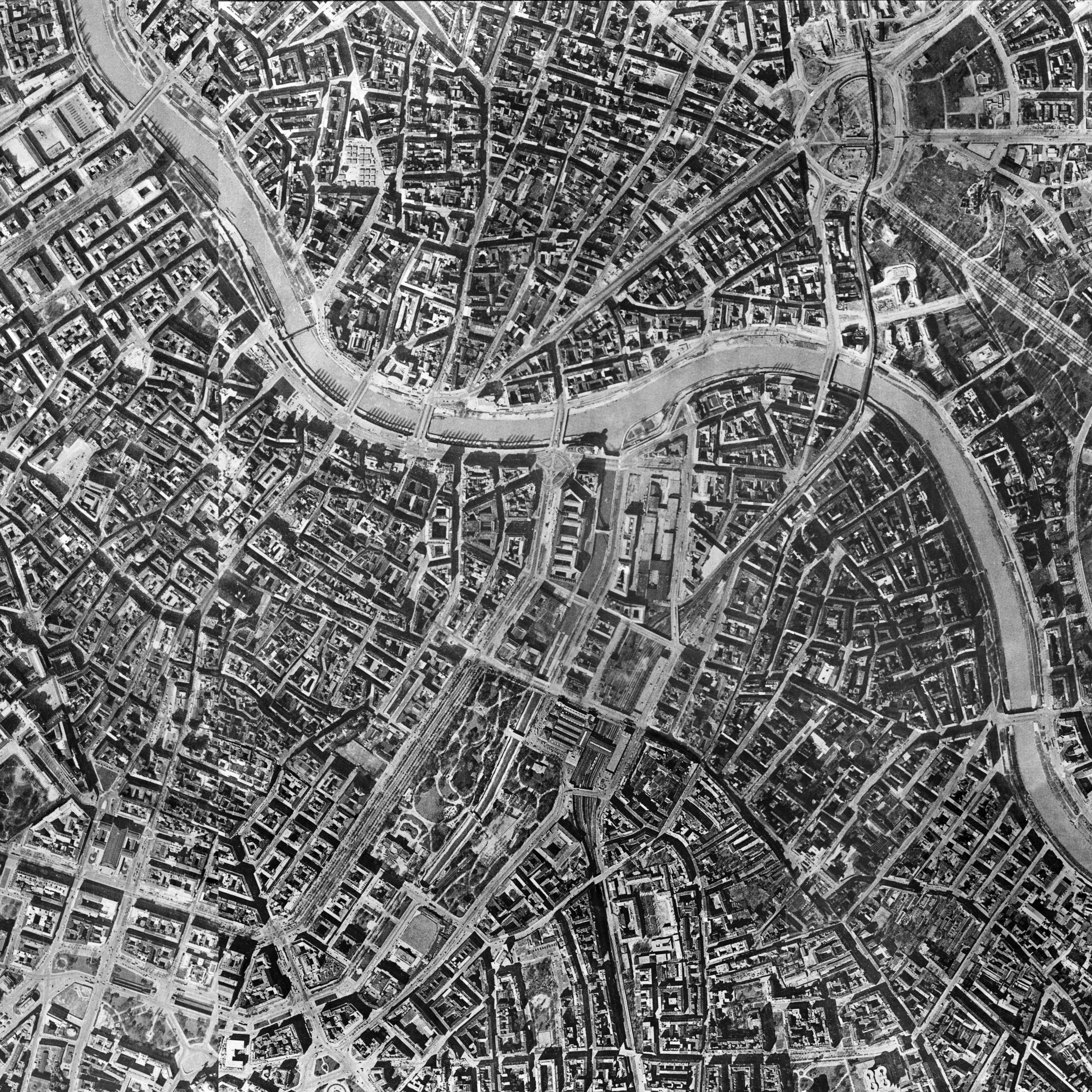 Luftbild Wien 1956_Ausschnitt